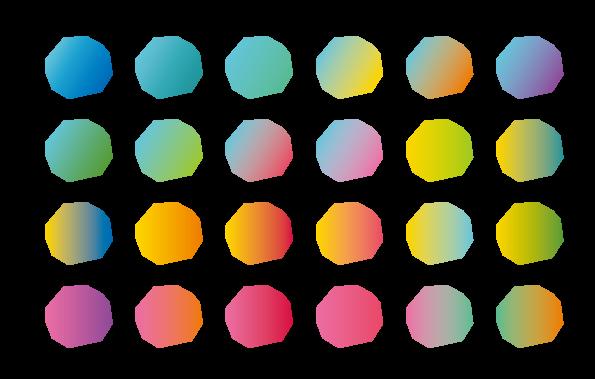 グラデーションパターン